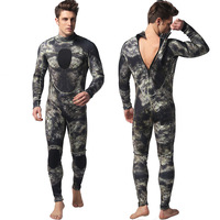 Mens 1.5MM neoprene wetsuit One piece Freediving Spearfishing Camouflage Diving Suit Surf Suit Cold Proof Warm Man camo swimsuit