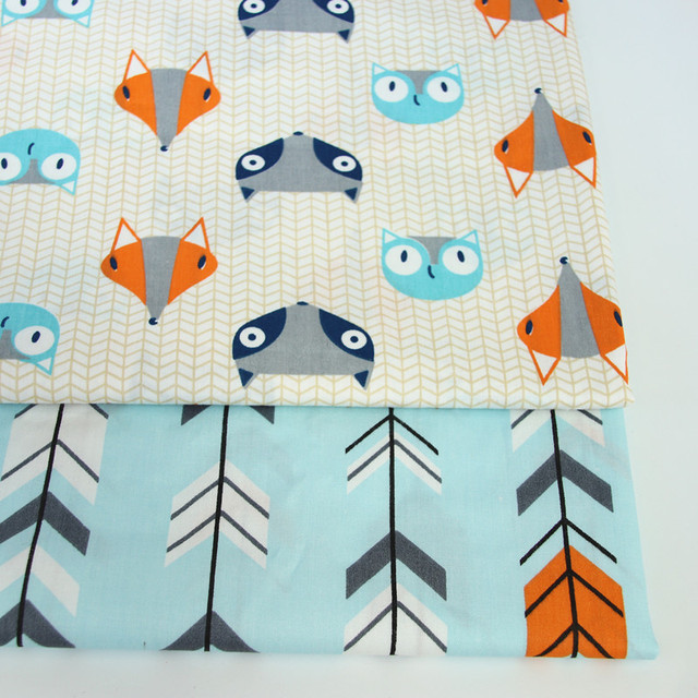 Fox Cotton Twill Fabric Kids 100 Cotton Cloth By Meter For Diy