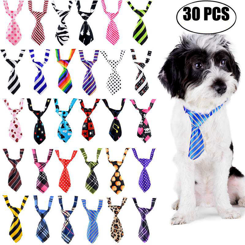 5/10/20/30 pz Regolabile Pet Dog Cat Cravatta Handsome Grooming Adorabile Lovely Bow Tie Per animali Cani Poliestere Seta Collare Carino