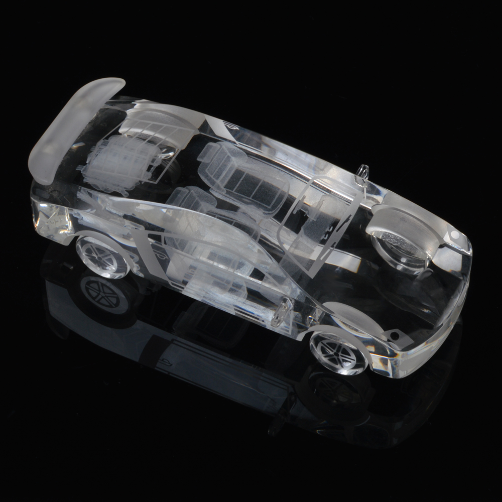 Verisimilar Crystal Car Model Glass Miniature Paperweight DIY Car Ornaments For Children Gifts Home Decoration Accessories