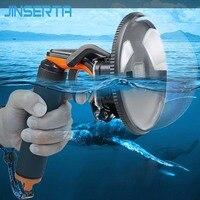 JINSERTA Waterproof Dome Port for GoPro Camera Diving Lens Cover w/ Pistol Trigger Grip for GoPro Hero 5 6 Black Camera