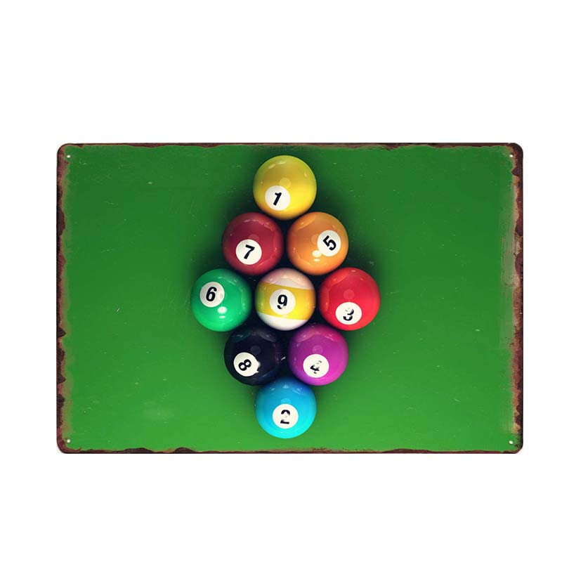 Billiard Balls on a Table Close Up Canvas Art Poster Print Home Wall Decor