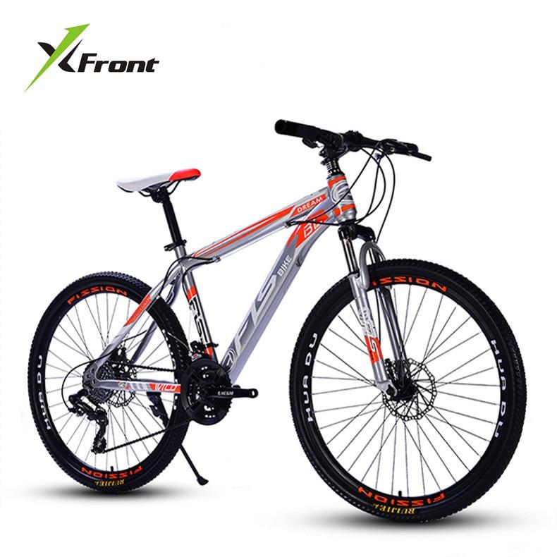 Nouvelle marque VTT en acier au carbone cadre 24/26 pouces roue 27 vitesses double frein à disque vélo Sports de plein air descente Bicicleta