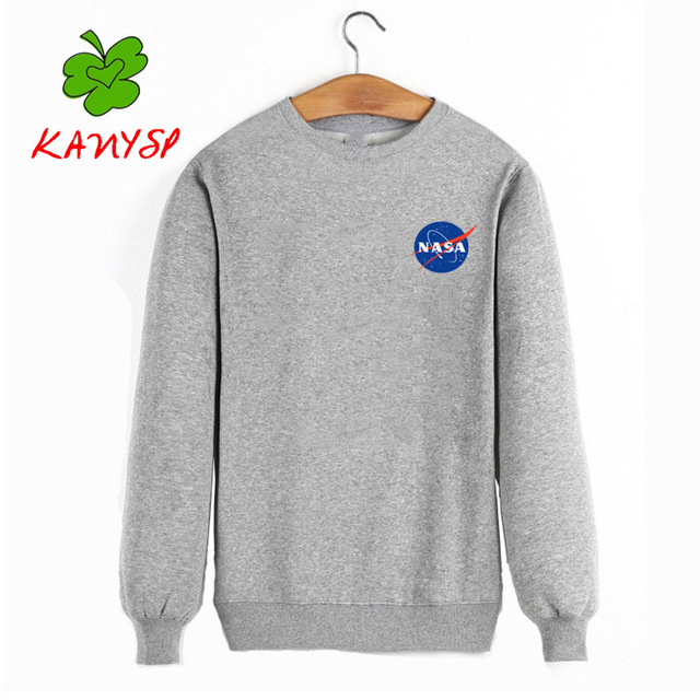 Autumn and winter new listings NASA sweatshirt male / female alien quality cotton pullover men NASA tops fashion KANYSP