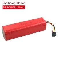 14.8V Lithium Rechargeable Battery 6000mAh for Xiaomi Mijia Mi Robot Vacuum Cleaner Roborock S50 S51 S55 Robot Parts