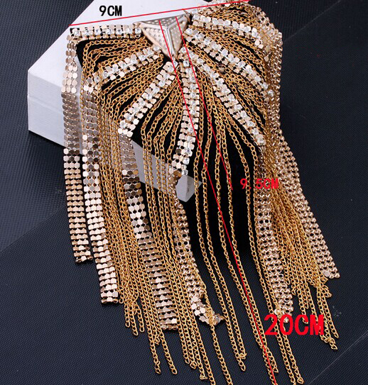 rivets epaulets/spikes/badge fringed epaulette 6
