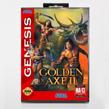 Golden Axe II 16 bit MD card with Retail box for Sega MegaDrive Video Game console system