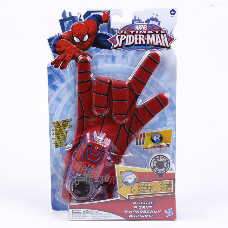 Original Marvel Ultimate Spider-Man Glove Spiderman Cosplay Glove Kids Toys Gifts ultimate comics spider man volume 2