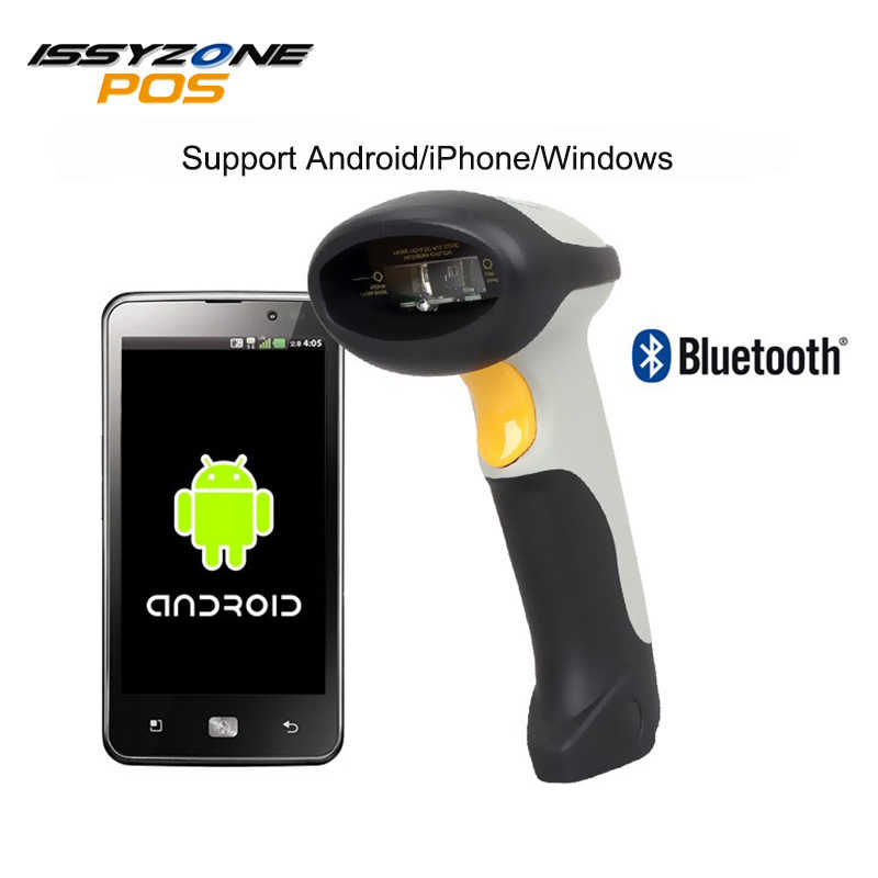 ISSYZONEPOS Wired and Wireless Bluetooth Barcode Scanner 1D 3 in 1 both for  PC and phone Bar Code Scanning Reader