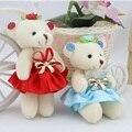 Caliente venta de los niños niñas juguetes de peluche llevan con vestido de flores ramos de oso material de venta al por mayor mini regalo de la promoción envío gratis