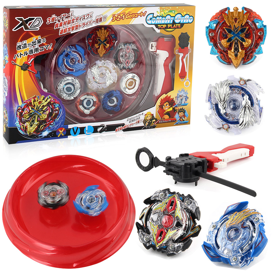 Free Shipping 4pcs/ set beyblade Arena Spinning Top Metal Fight Bayblade Metal Fusion Children Gifts Classic Toy Bayblade