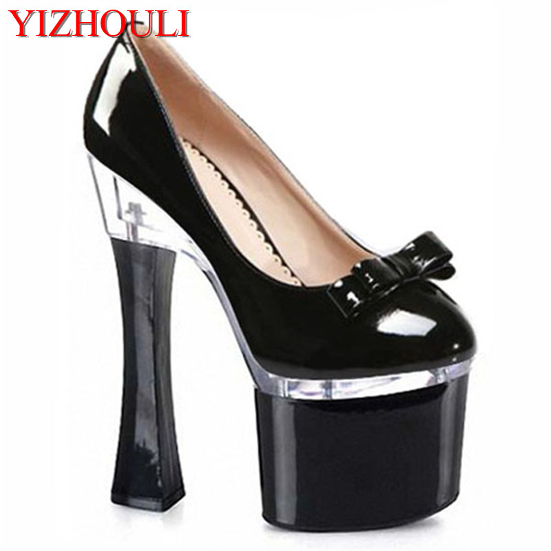 High heels temptation wildly popular Kawaii high-heeled shoes temperament  shu 18CM since documentary shoes 9b145a37a959