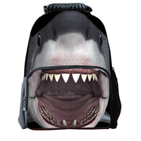 2017 Hot Sale Fashion Shark Tiger Horse Leopard Patterns Student Bag Outdoor Sports Personalized Student Travel
