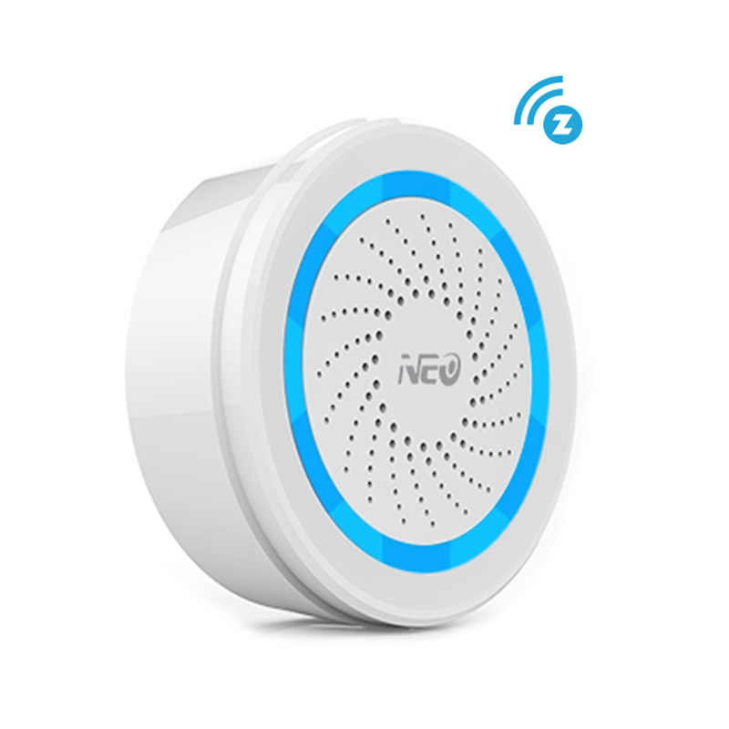 EU Version Z wave Sound Alarm Siren Sensor Battery-Powered Can Be Charged with USB For Z-Wave Wireless Home Automation System