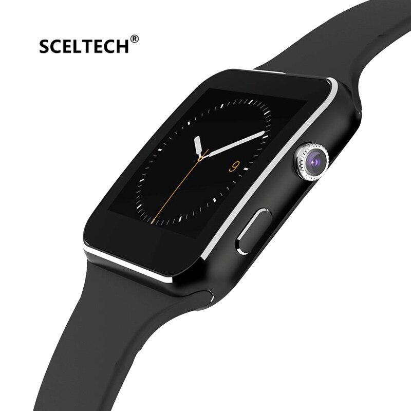SCELTECH Bluetooth X6 Smart Montre Hommes Montres SIM TF Carte relogio reloj inteligente Dispositif Portable Smartwatch Pour Android Téléphone