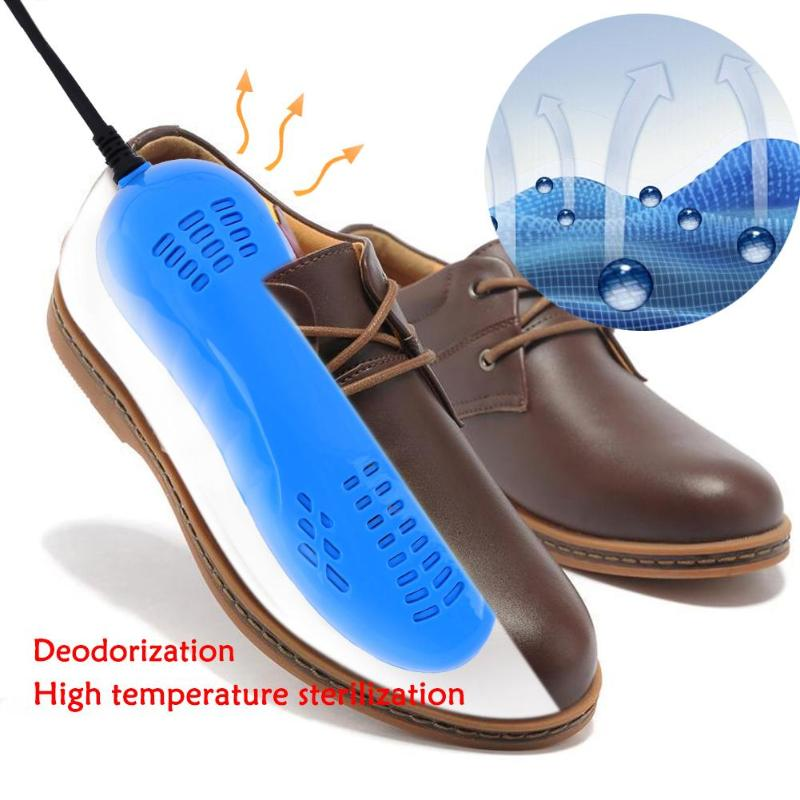 1 Pair Portable Running Shoes Warm Foot Sterilization Voilet Light Shoes Dryer Heater Foot Protector Boot Odor Deodorant Heater