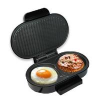 JamieLin Household Mini Steak Hamburger Machine Electric Panini Sandwich Maker Bread Breakfast Barbecue Machine
