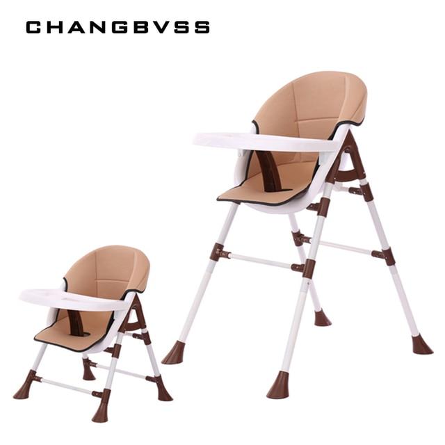 2017 Hight Adjustable Feeding Chair All Seasons Breathable Baby High Chair 0-6Y Infant Kids Highchair For Mommy Easy Feeding