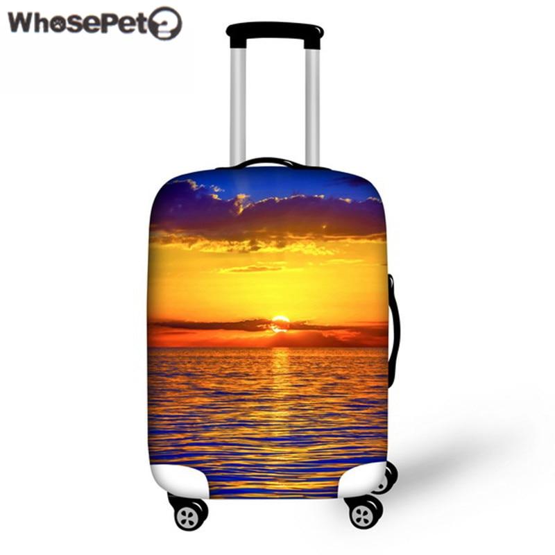 WHOSEPET Reisekoffer Schutzhülle für 18-30 Zoll Reisekoffer Trolley Koffer Strentch Elastic Dustproof