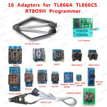 1.8 v SOP28 SOP8 SOP20 SOP16 PLCC44 32 28 20 IC Estrattore 16 pz SIM Card e Adattatori Prese per TL866CS/A EZP2010 RT809F RT809H programmatore