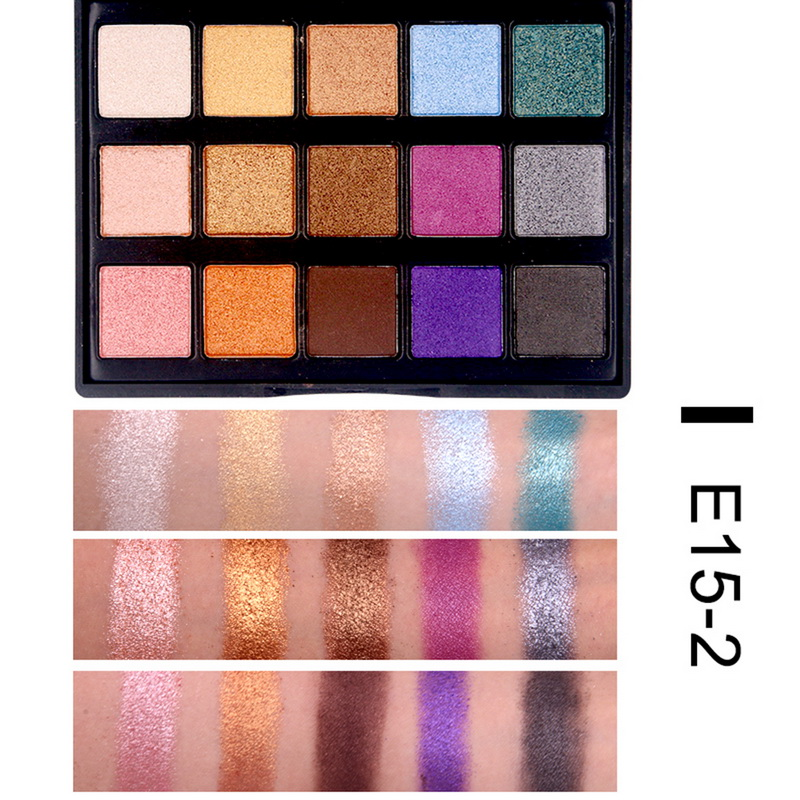 Popfeel High Pigment Matte Eyeshadow Eyes Makeup Pallete Shimmer Eye Shadow Palette Glitter Waterproof Lasting Makeup Easywear Eye Shadow