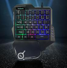 DSstyles G30 Wired Gaming Keypad with LED Backlight 35 Keys One-handed Membrane Keyboard for LOL/PUBG/CF membrane keypad film for 2711 b5a3 panel 550 monochrome