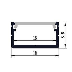 Image 5 - 10 40 Stks/partij 2M Aluminium Profiel 80Inch Led Bar Licht Voor Dubbele Rij Led Strip, w18 * H8.5mm Aluminium Behuizing Van 16Mm Pcb
