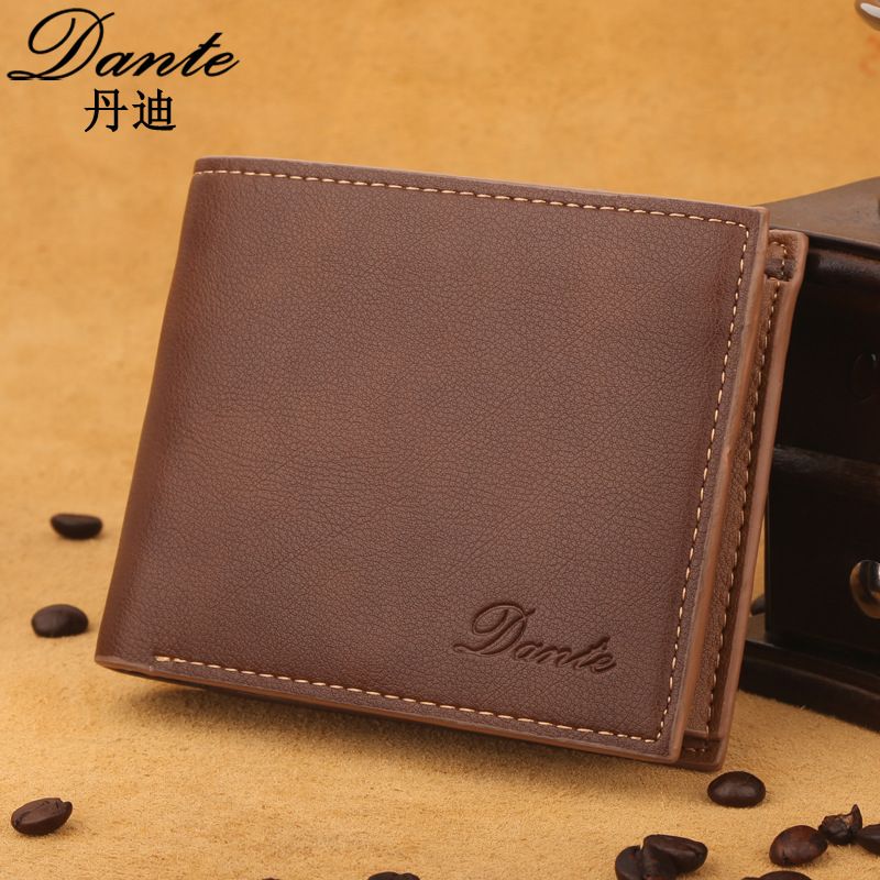 Luxury Brand Dante Vintage Leather Men Wallets Large Capacity Card Holder Money Bag Famous Delicate Short Men's Wallet 240 cards large capacity pu leather business card holder card collection book 1493