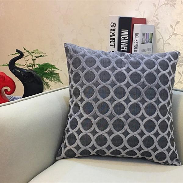 Chenille flocking pillow case cush