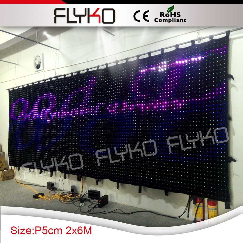 best shopping led video curtain with programmable pretty image ...