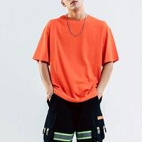 Tiger Force Men's T shirt Summer Pure Cotton tshirt Man O neck Loose Tops Breathable Loose Men Shirt Male Hip Hop Tees Plus Size