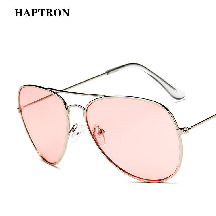 HAPTRON Luxury Women Oversized Sunglasses pink yellow Clear Driving Sun Glasses Brand Vintage Retro shades goggle lentes mujer