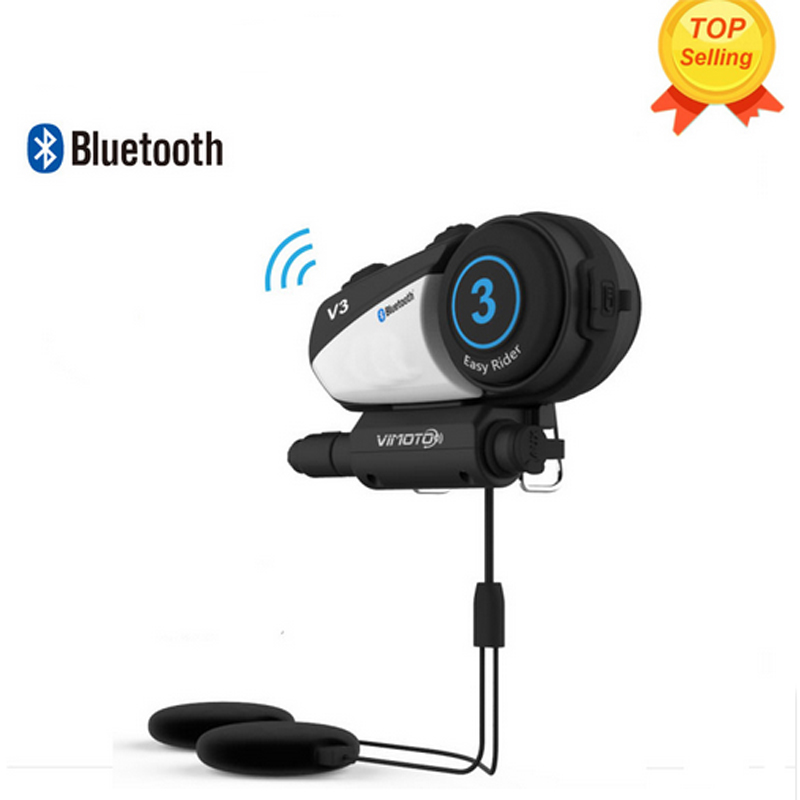 new vimoto v3 600mah helmet bluetooth headset motorcycle multi functional stereo headphones for. Black Bedroom Furniture Sets. Home Design Ideas