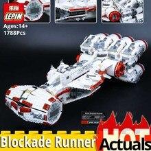 Лепин 05046 Star UCS Rebel блокады бегун сокровище Модель Строительный блок кирпич на день рождения Рождественский подарок войны legoinglys 10019 игрушка