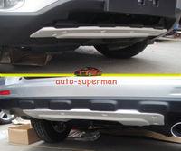 Front+Rear Bumper Protector For Honda CRV 2010 2011 aluminum alloy