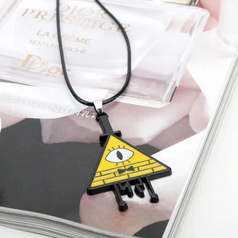 HANCHANG bijoux drame gravité chutes mystère BILL chiffrage mal pyramide pendentif collier Cabochon étrange ville collier enfants cadeau