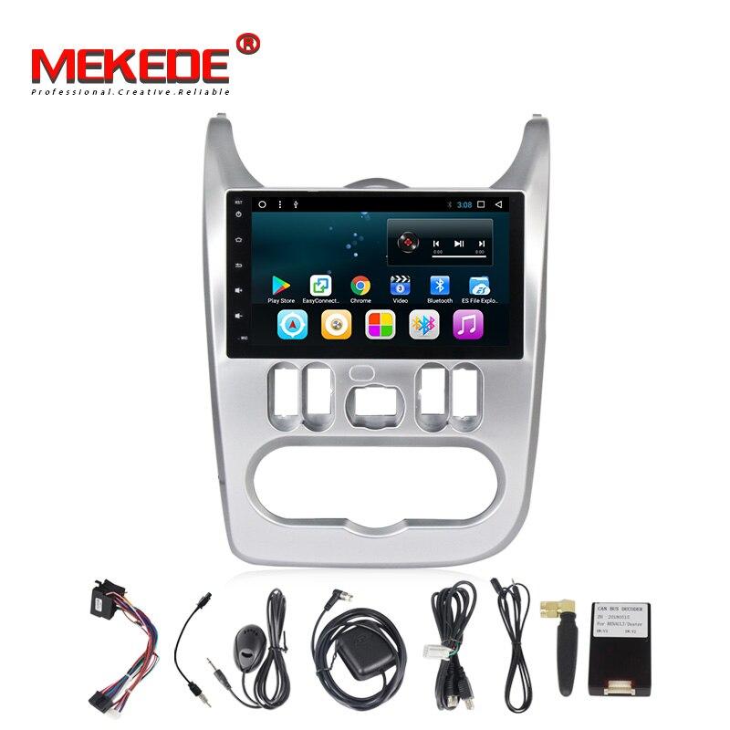 T3 Android8.1 Voiture lecteur multimédia pour Logan 2009-2013 Sendero Dacia Logan 2008-2012 Duster Sandero Nissan NP200 2009