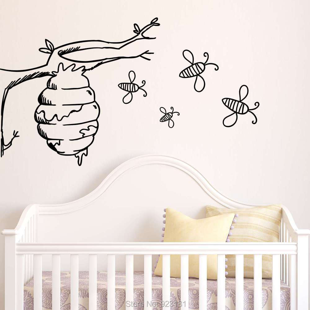 Ble Bee Wall Decor 101design Stickers Get Baby Aliexpress Amipublicfo Choice Image
