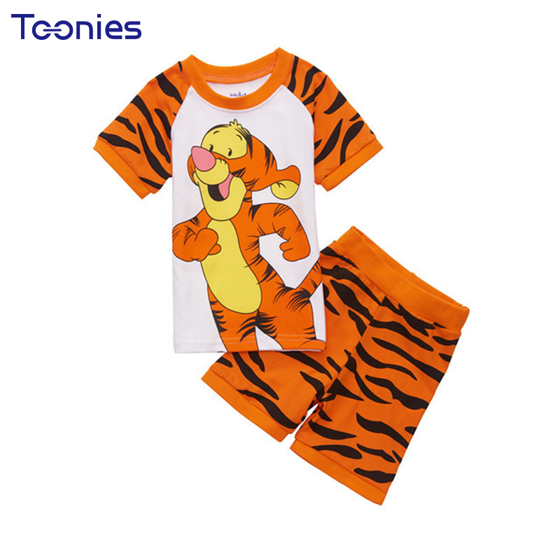 2018 New 100% Cotton Baby Boys Girls Clothing Set Children Shirt + Pants Set Kids Cartoon Clothes Casual Suits YY1529 cotton baby rompers set newborn clothes baby clothing boys girls cartoon jumpsuits long sleeve overalls coveralls autumn winter