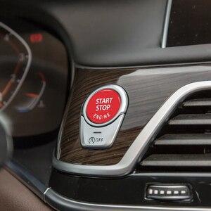 Image 5 - محرك السيارة بدء زر استبدال غطاء وقف التبديل اكسسوارات مفتاح ديكور لسيارات BMW X1 X5 E70 X6 E71 Z4 E89 3 5 سلسلة E90 E91 E60
