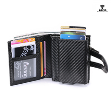 купить BYCOBECY Short Wallet Men Purses Fashion Coin Purse Card Holder Wallets Female High Quality Clutch Money Bag PU Leather Wallet по цене 976.32 рублей