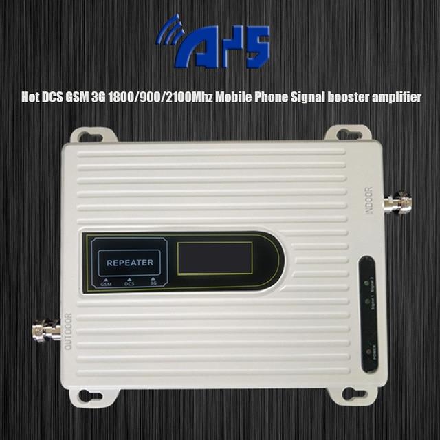 Unit 900 1800 2100 mhz 트라이 밴드 2G 3G 4G 모바일 신호 부스터 GSM DCS LTE WCDMA UMTS 핸드폰 리피터 앰프