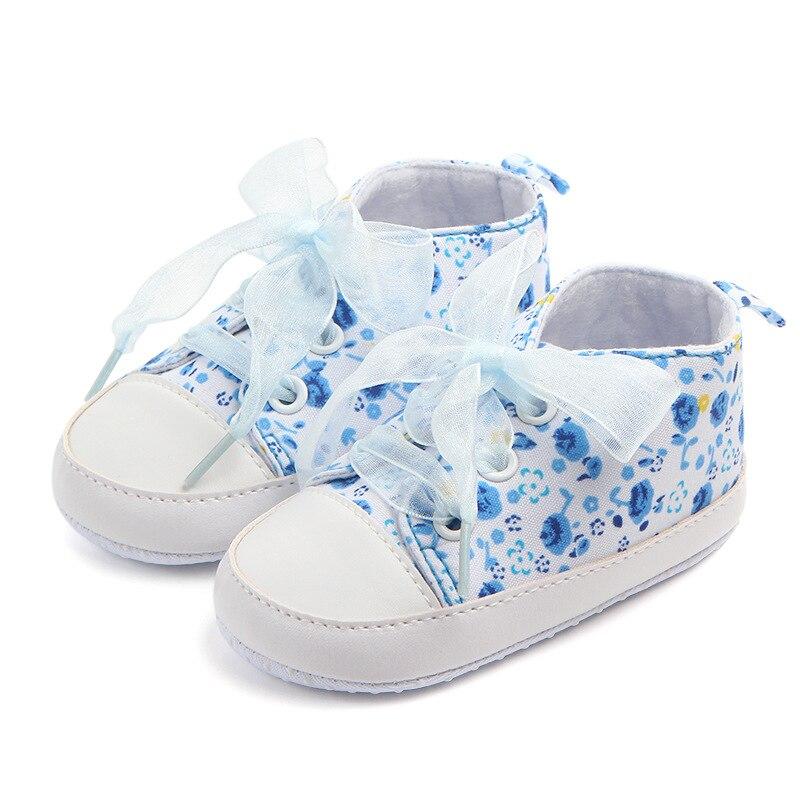 0-12 м на шнуровке детская обувь для девочек хлопок мягкой подошвой цветок малыша детская обувь для первых шагов Мокасины F27