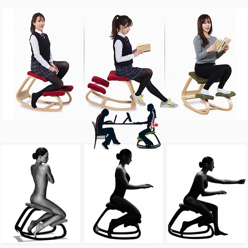 Kneeling Chair Spine Correction Kneeling Recliner Happy Bentwood chairs  Rocking Lounge Computer Chair Balcony 6 Color. Popular Kneeling Office Chair Buy Cheap Kneeling Office Chair lots