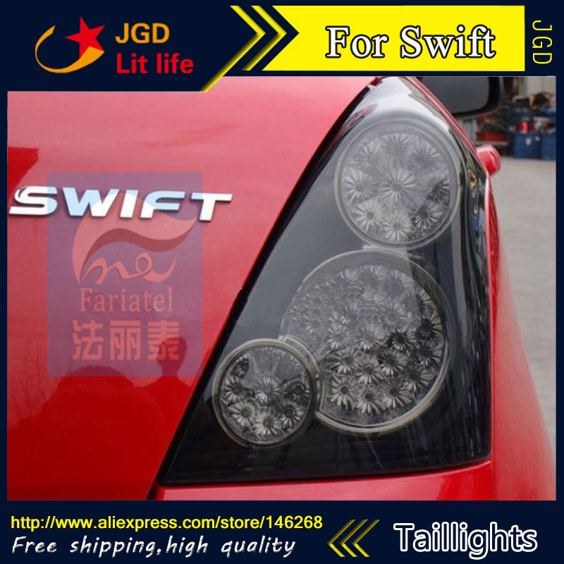 Car Styling tail lights for Suzuki Swift LED Tail Lamp rear trunk lamp cover drl+signal+brake+reverse car styling led tail lamp for suzuki swift taillights 2005 2014 swift rear light drl turn signal brake reverse auto accessories