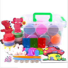 36pcs/set Colors Dynamic Gift Fluffy Slime Light Clay Modeling Polymer Clay Kid Sand Plasticine Hand Gum Classic Education Toy
