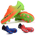 2016 New Boy Girl Soccer Boots Men Women Unisex Kid Football Boots Voetbalschoenen Trainer Sports Sneakers Cleats Soccer Shoes