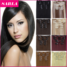1Set Free Shipping Synthetic Straight Aliexpress Hair Extensions Hairpiece 7pcs/set Long Natural Clip In Hair Extension 777