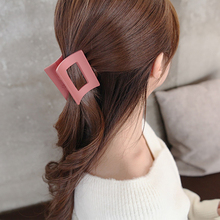 Net Red Korean Hairpin Adult Top Clip Disk Vintage Square Button Princess Hair Bathing Shower Tray