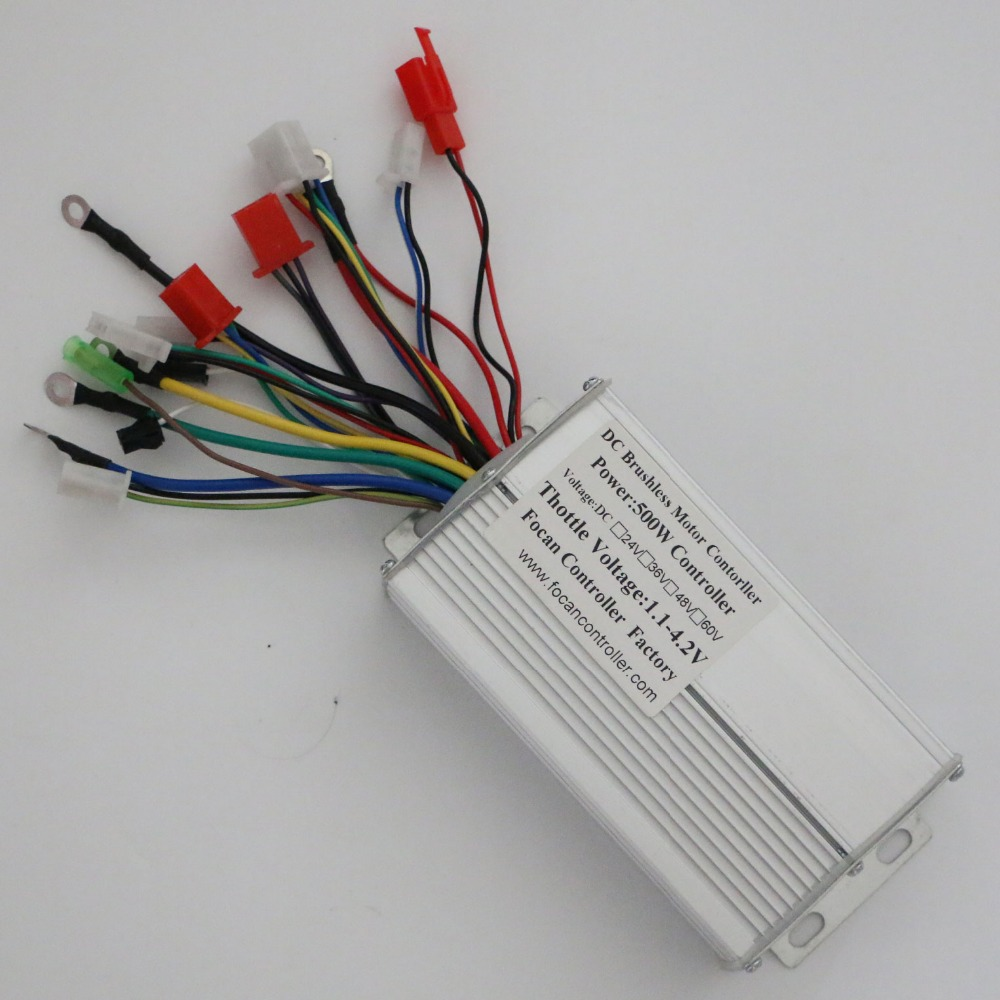 24v 36v 250w 12a Brushless Dc Square Wave Controller Ebike Electric Motor Wiring 500w Bldc For Bike E Bicycle Scooter